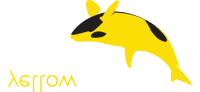 Yellow BlackFish Web Design Logo White